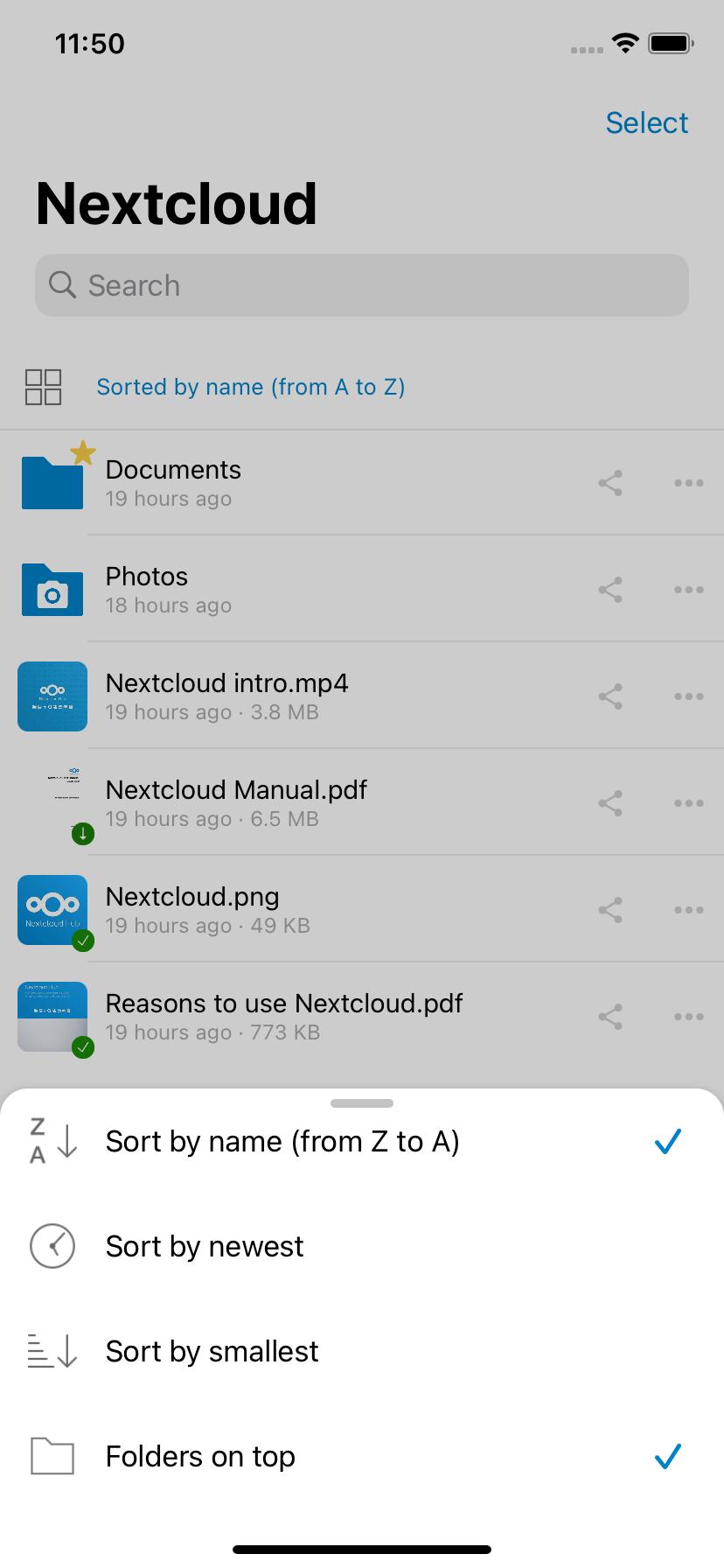 sort files