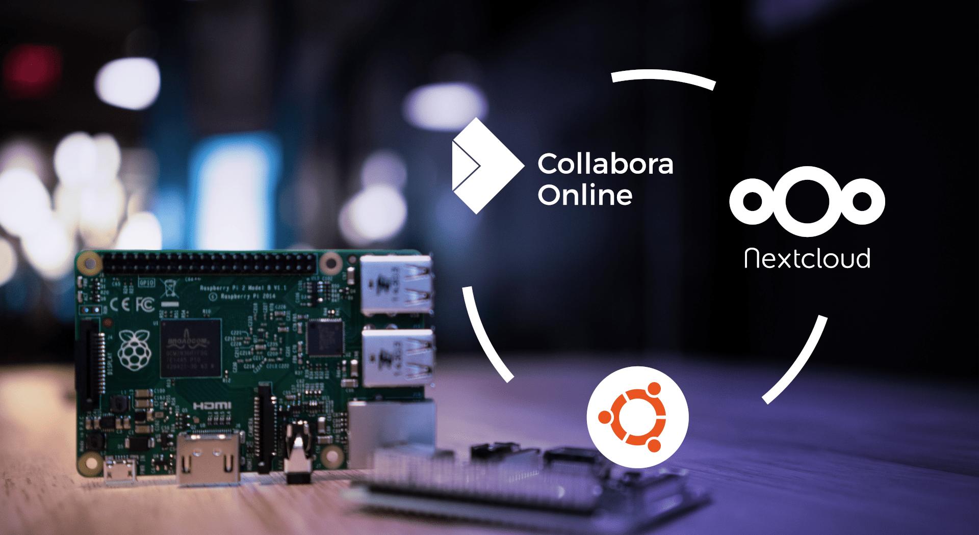Logos of Nextcloud, Collabora and Canonical