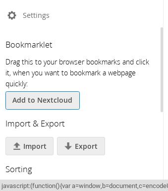 Nextcloud Bookmarks progress: 0 12, 0 13 and more! – Nextcloud