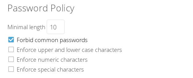 Enforce password quality