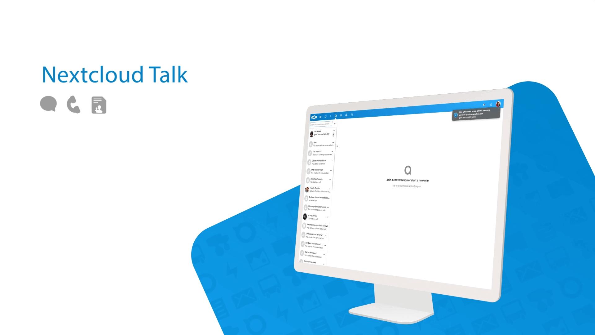 promo image of Nextcloud Talk
